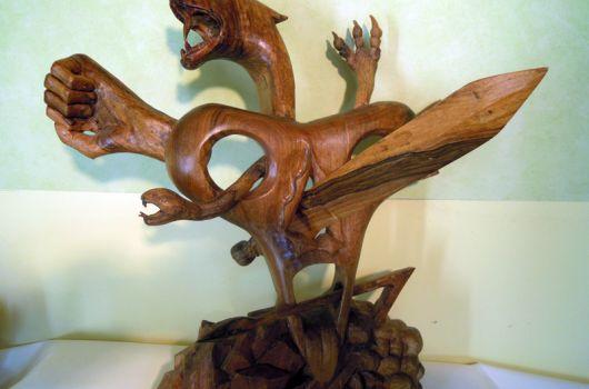 Les multiples formes de la violence, sculpture de Pierre Gioria